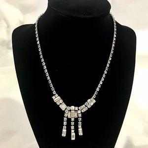 Vintage rhine stone necklace